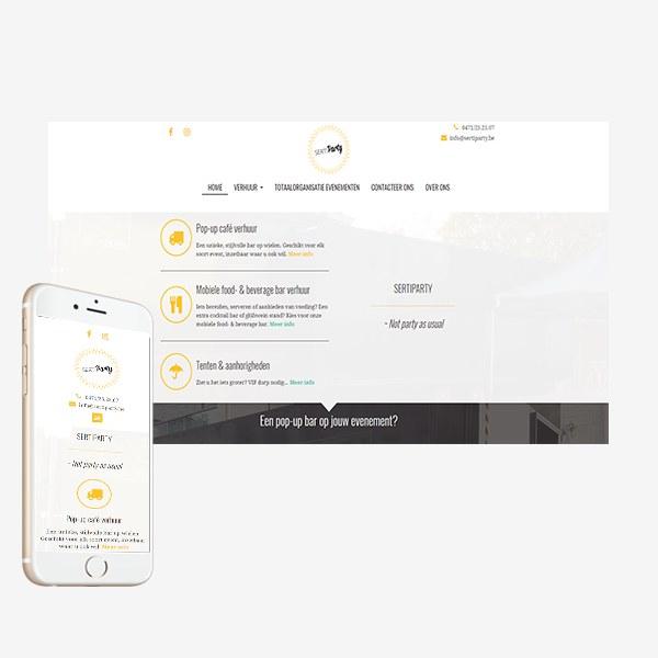 Webdesign Sertiparty_BVW Design