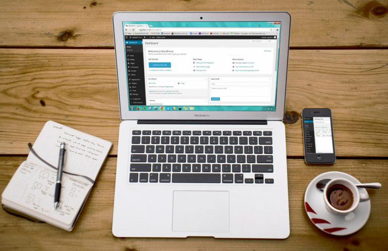 Website design op een wordpress website